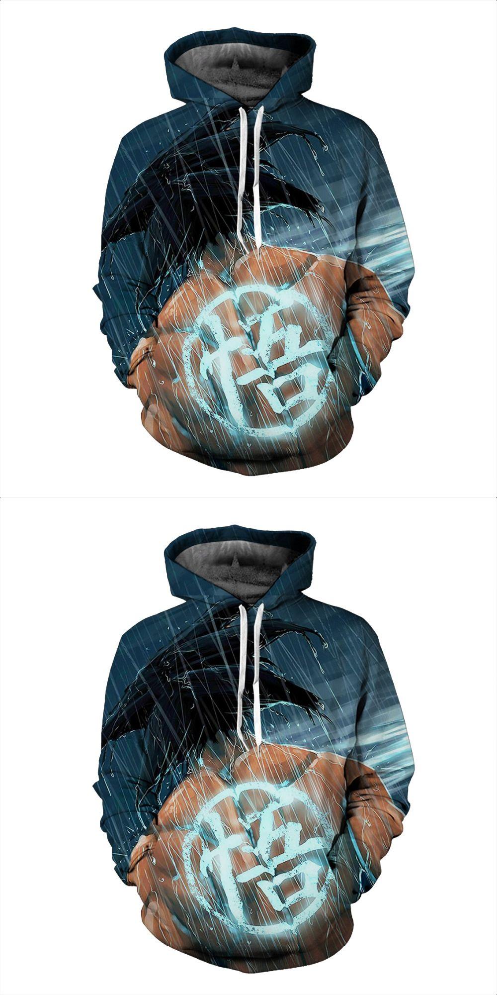 bcd7856fdb0 2017 sweatshirt Hoodies Men women Cool creative 3D print Dragon Ball Rainy  day fashion hot Style