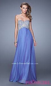 Buy Long Strapless Prom Dress by La Femme at PromGirl