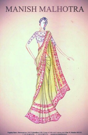 Manish Malhotra Dress Design Drawing Illustration Fashion Design Dress Design Sketches