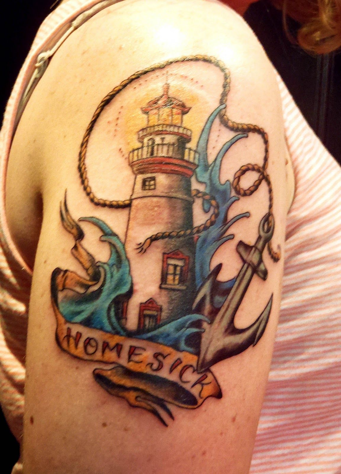 Pin by Cindy Bosmans on Tatoos Lighthouse tattoo, Design
