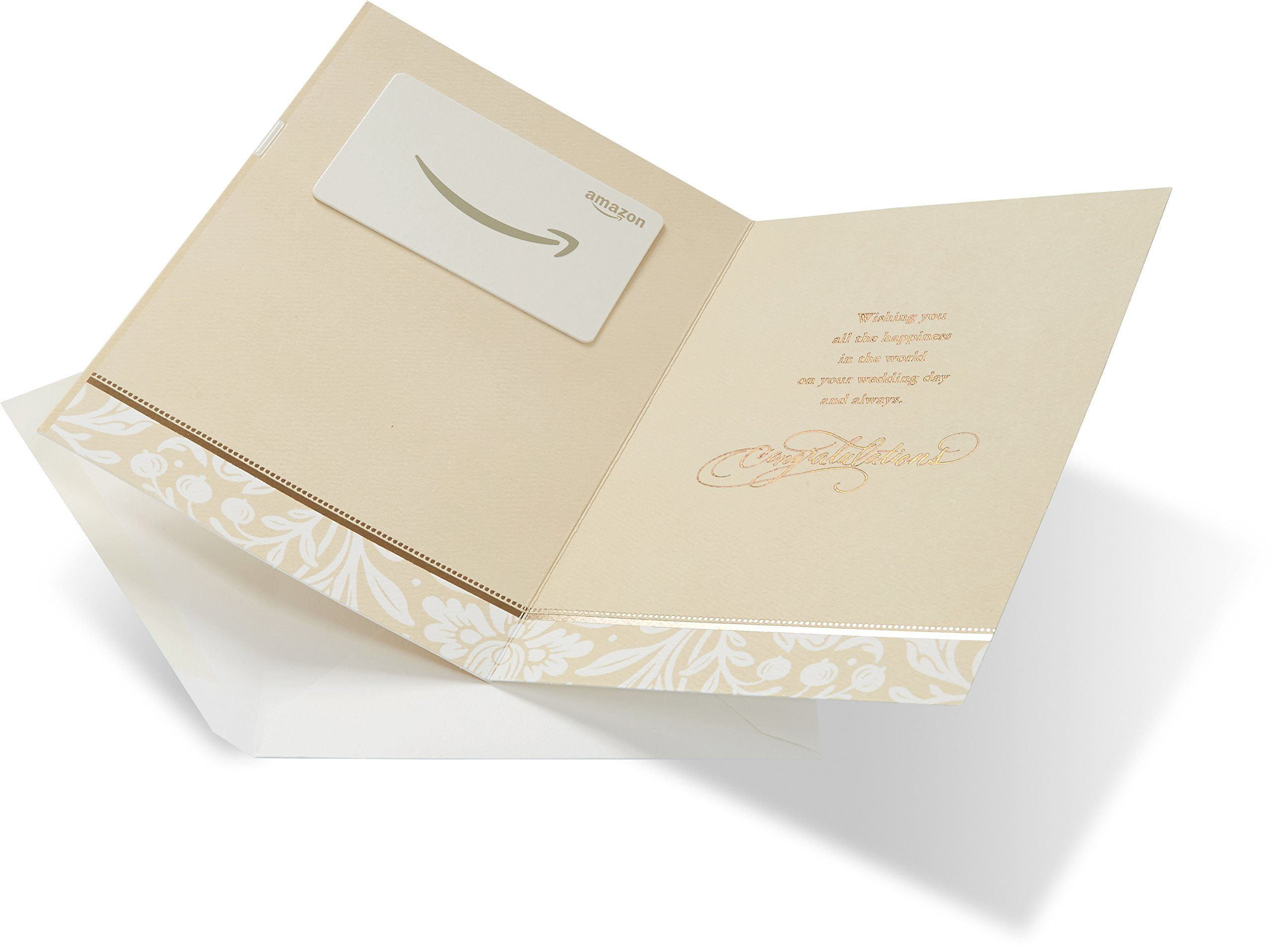 Amazon gift card in a premium greeting card by american