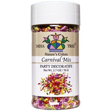 India Tree Nature\'s Colors Carnival Mix Sprinkles, 2.7 oz ...