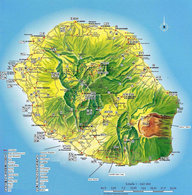 La Reunion Karte La Reunion Karten Bilder Reiseziele