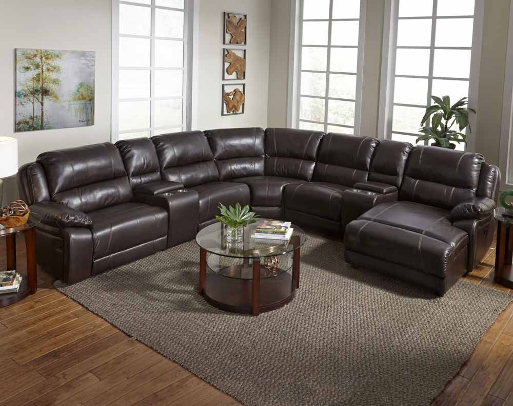 Cindy Crawford Home Barton Springs Brown 6 Pc Sectional From