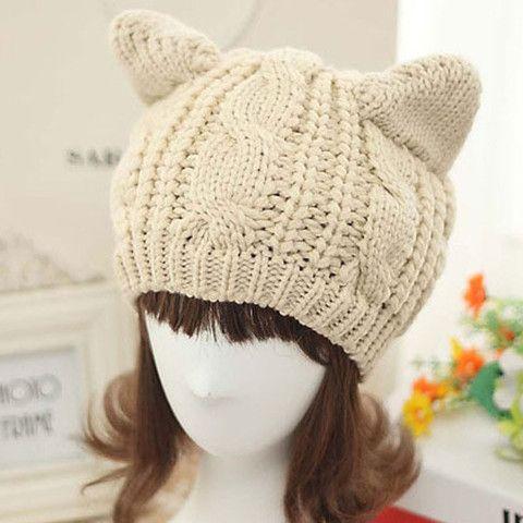 Sombrero Para Damas con Orejas de Gatito | moldes | Pinterest ...