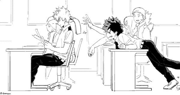This would be me - izuku just a little more stretch!!! And katsuki just doesn't realize anything -.-'