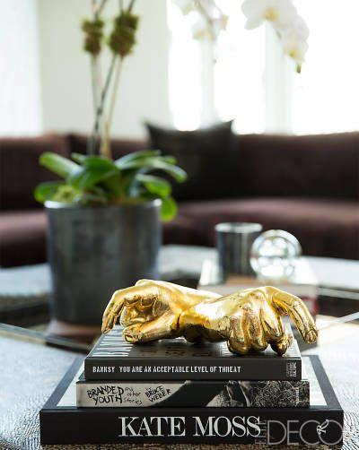 A Peek Inside Jennifer Fisher's Glossy, Family-Friendly NYC Home   Coffee table styling, Side ...