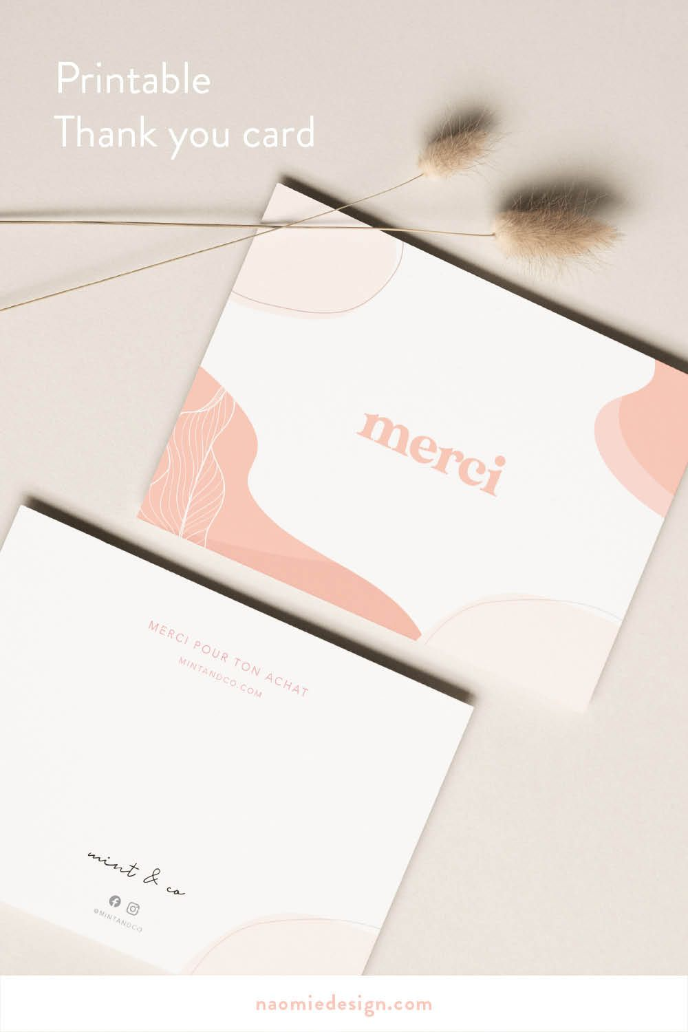 Thank you card — Customize and make your customer feel special! Thank you note