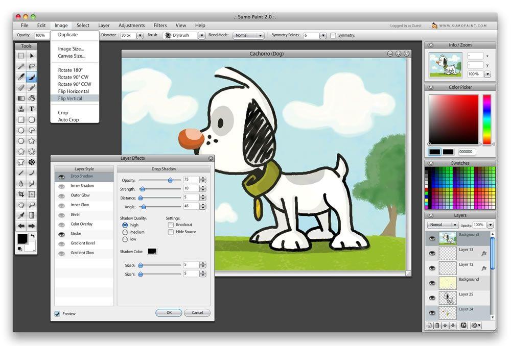 Sumopaint Online Image Editor Tekenen