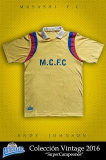 f20d80cc4bca3 Anticuar10  Camiseta Retro Andy Johnson Musashi F.C. ( 70.000 ...