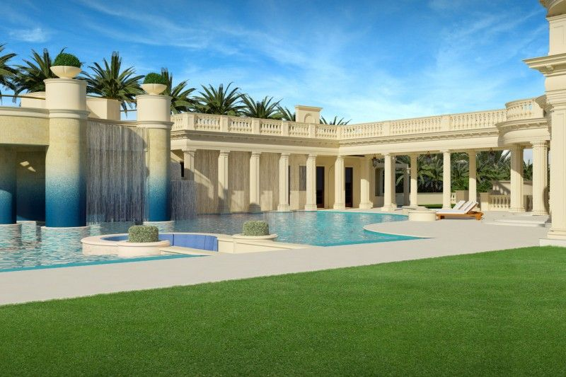 Construction Continues On Florida S 159m Le Palais Royal Mansion American Luxury Houses In America Florida Mansion Mansions