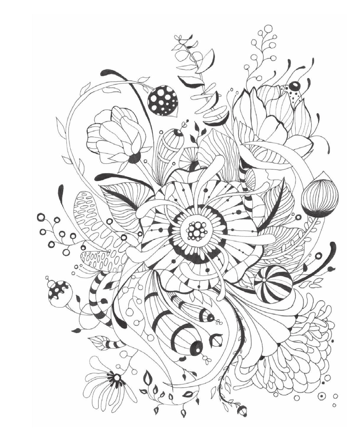 Botanical art coloring book - Botanical Wonderland Adult Coloringcoloring Booksfloral Paintings Doodleswonderland