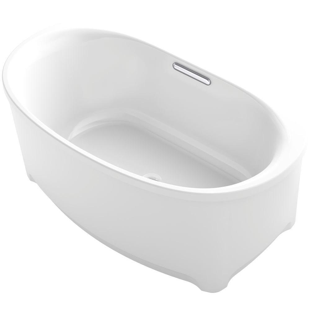 Kohler Underscore 5 Ft Acrylic Flat Bottom Non Whirlpool Bathtub