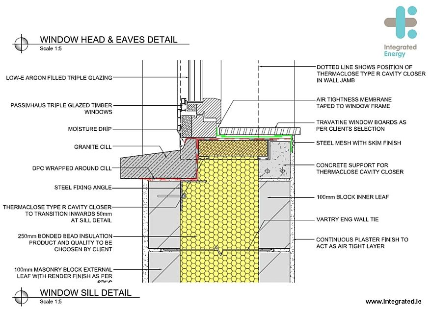 Passivedesign Org Block Cavity Cavities Cavity Wall Window Boards