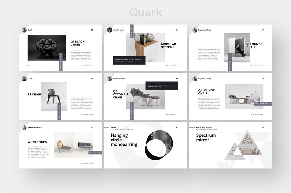 cv template quark