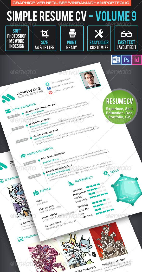 Simple Resume Cv Volume   Simple Resume Resume Cv And Template