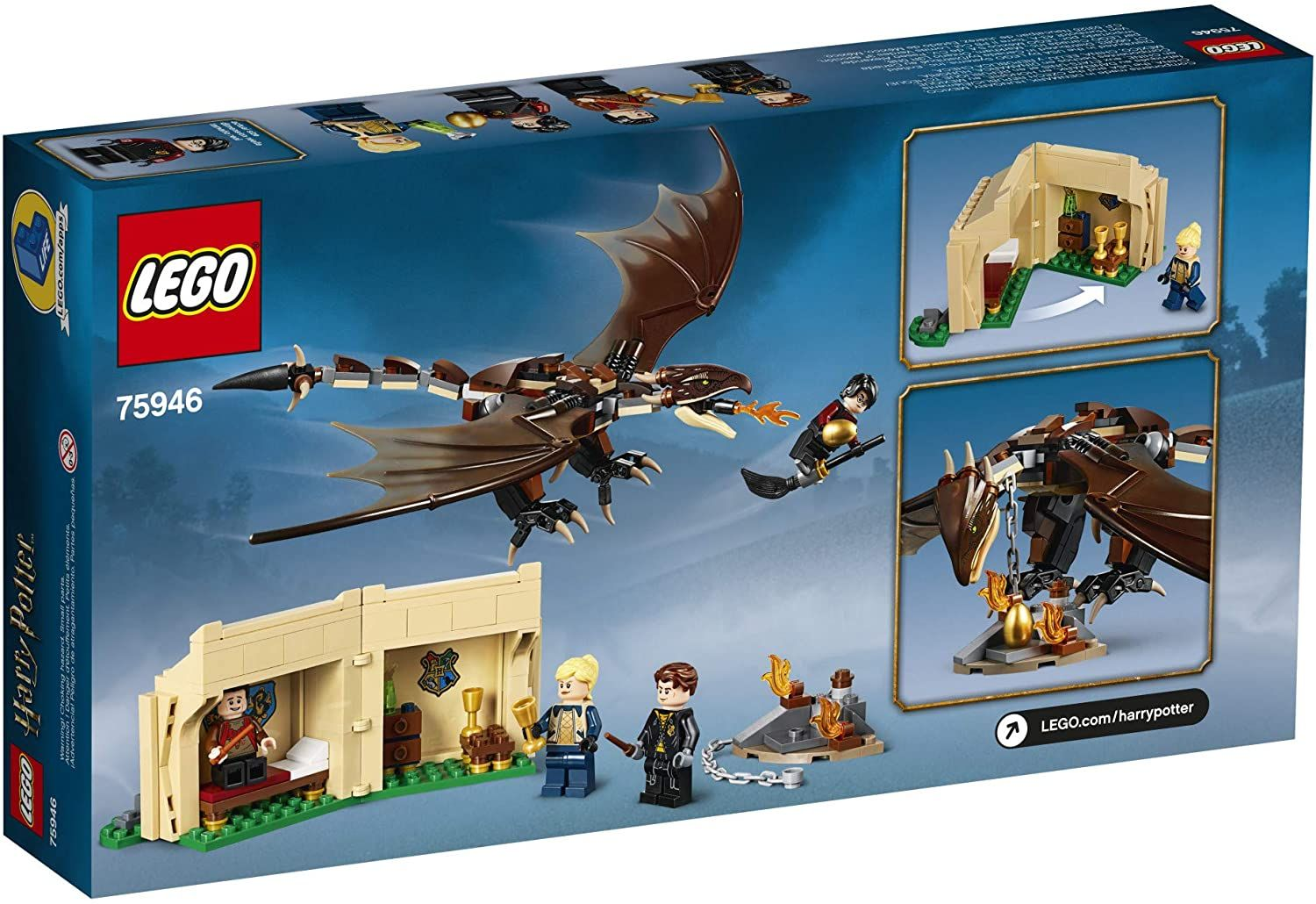 Lego Harry Potter Hungarian Horntail Triwizard Challenge 265 Piece Building Kit Lego 75946 Ages 8 In 2021 Lego Harry Potter Triwizard Harry Potter Lego Sets