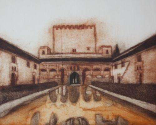 Patio de los Arrayanes. - Decoración Árabe  http://www.decoracion-arabe.es/proddetail.asp?prod=grabado-patio-arrayanes-alhambra-08