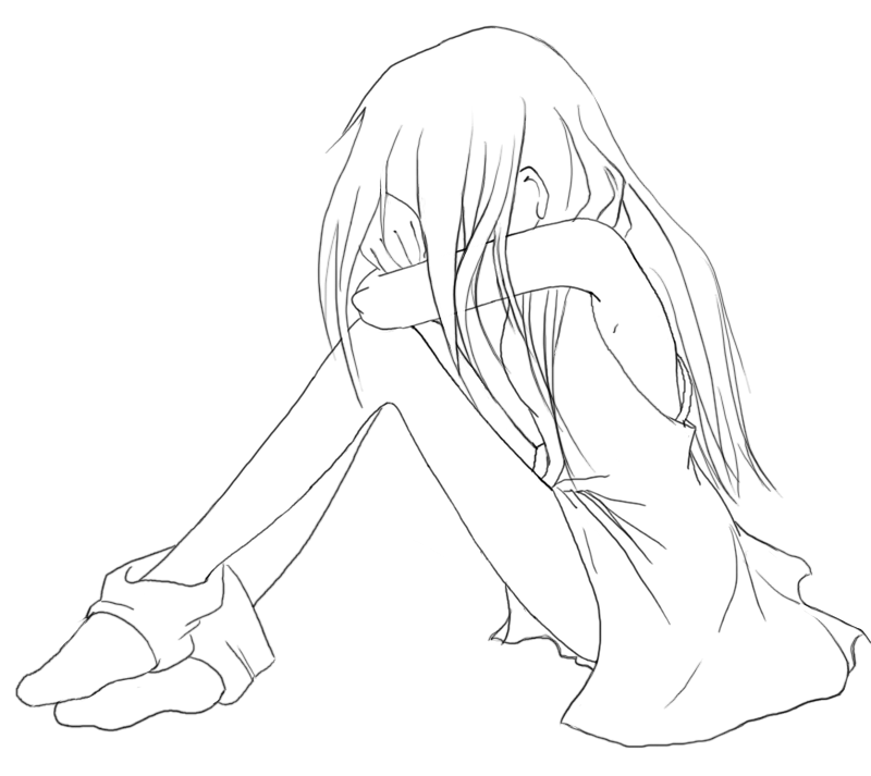 Line Drawing Sad Face : Monsters under my bed by toexjam  tips