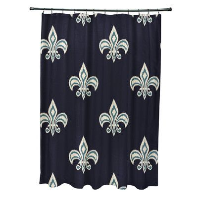 Fleur De Lis Living Best Fleur De Lis Ikat Print Shower Curtain
