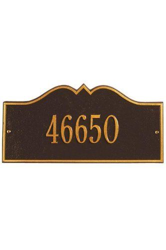 Hillsboro One-Line Petite Wall Address Plaque - petite/one line, Oil Rubbed Bronze by Home Decorators Collection. $55.00. Hillsboro One-Line Petite Wall Address Plaque - It's Your Own Little Corner Of The World - So Why Not Mark It With Pride? A House Sign Announces A Message Of Distinction. These Premium, Textured And Dimensional Address Plaques Are Designed With Large Letters And Numbers For Maximum Visibility. Choose From Our Exceptional Array Of Custom Address Plaques To Fi...