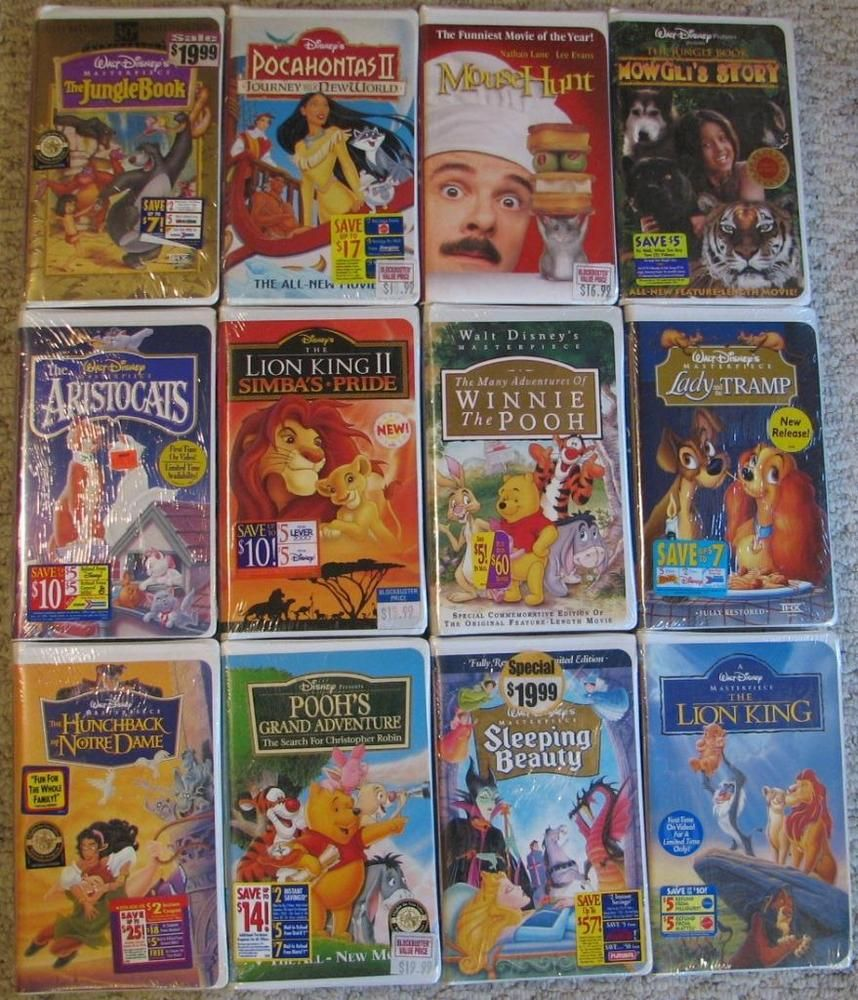 WALT-DISNEY-VHS-Movie-Lot-of-12-Factory-Sealed-NEW-Lady
