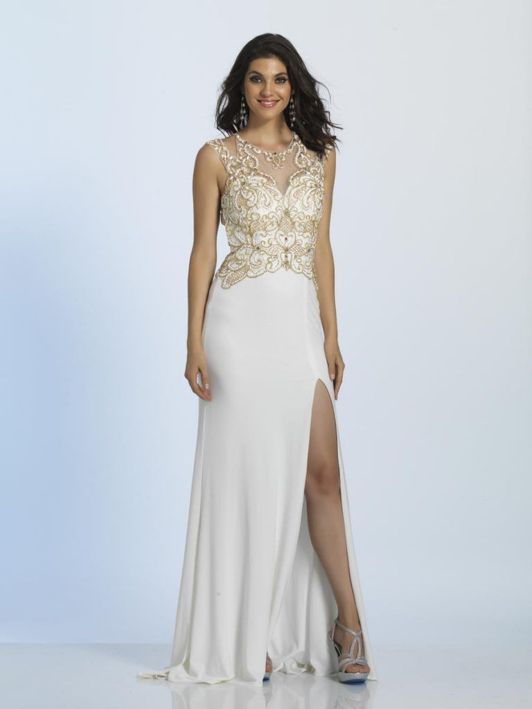 Slim jersey prom gown formal strappy back jersey gown long