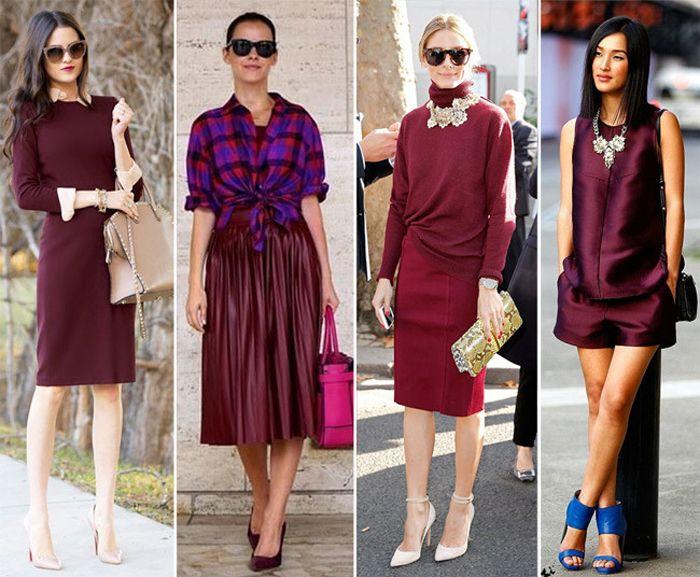 Что одеть к вишневому платью