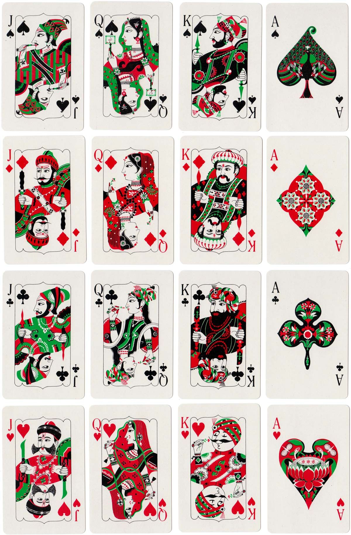 'Air India' playing cards, made in India by Playwell