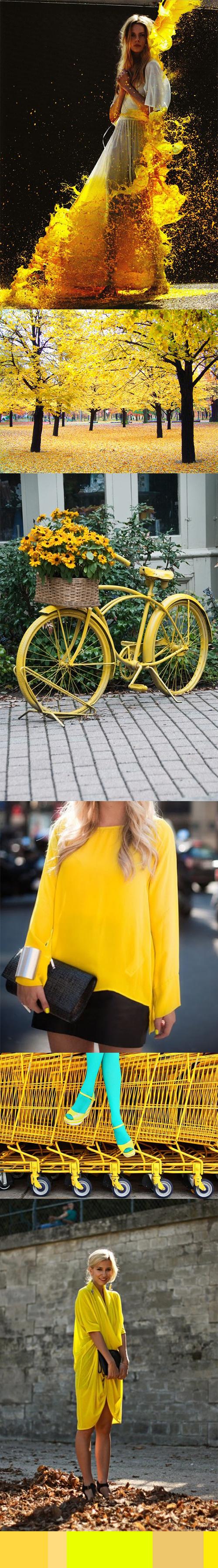 Colour Inspiration « Sunny yellow!