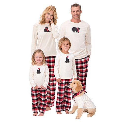 2bca813a93 Juleya Set de Pijamas Familiares - Pijama de Navidad para Dormir para papá  mamá niños