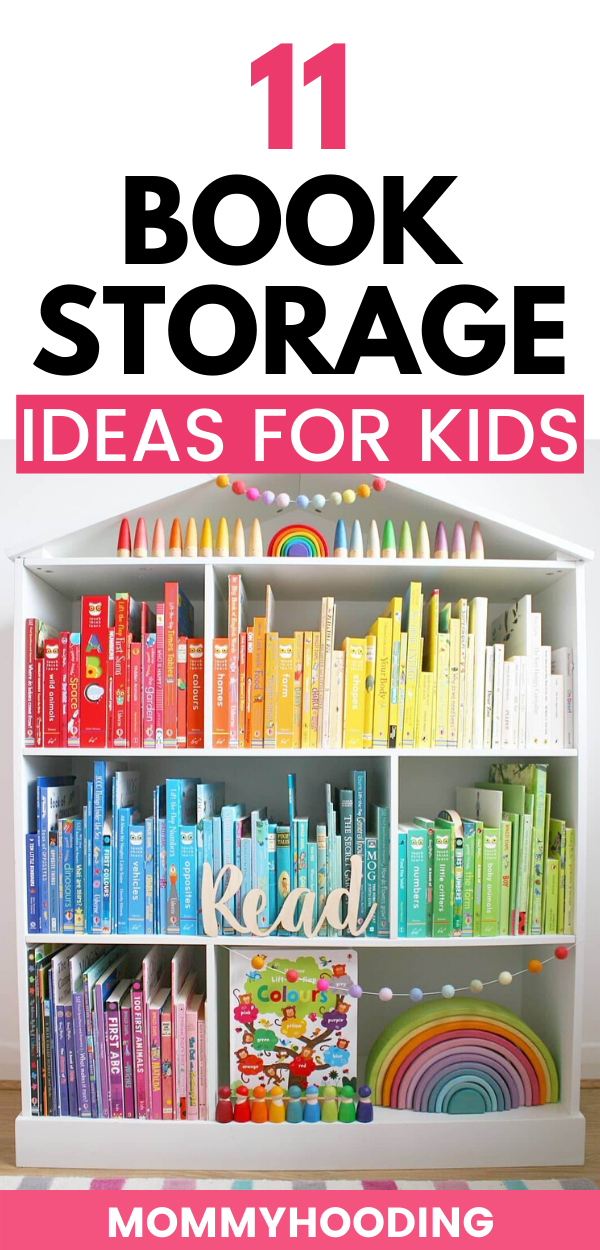 11 Clever Book Storage Ideas For Kids Organizing Kids Books