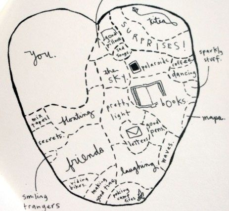 a great map for Valentine's Day .. would be fun as a card