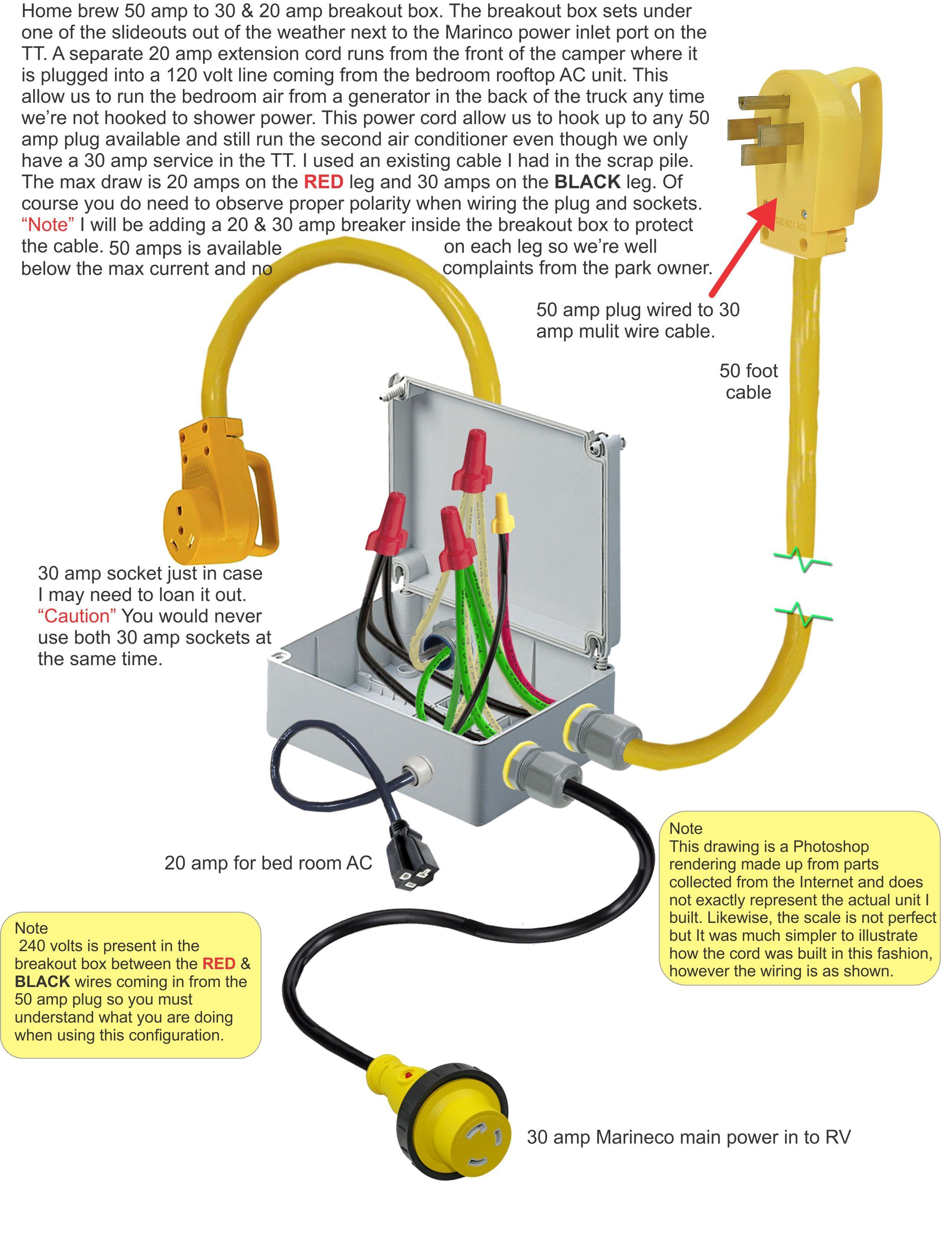 50 Amp RV Plug Wiring Diagram * More details can be found by ...  Amp To Adapter Wiring Diagram on