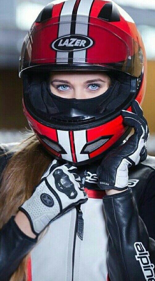 Motorcycle helmet sexy