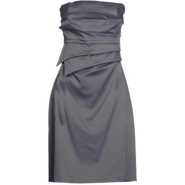 Guess By Marciano Short Dress ($59) ❤ liked on Polyvore featuring dresses, grey, sleeveless dress, short pleated dress, gray sleeveless dress, grey mini dress and mini dress