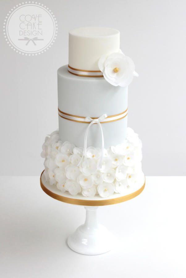Torte Gold Weiss Blumen Hochzeitstorte Hochzeitstorte