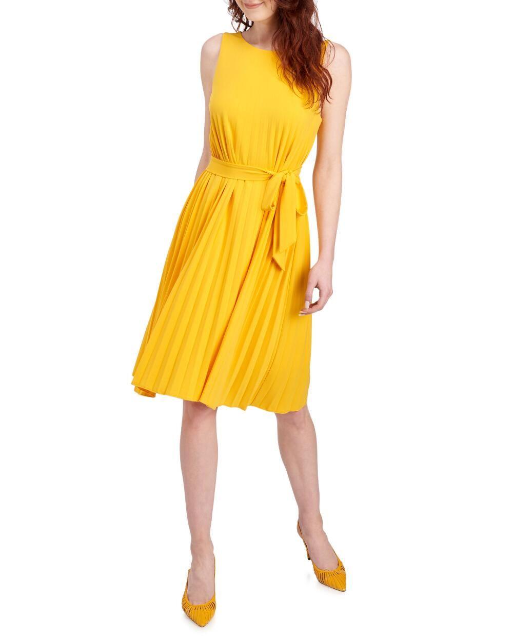 Tahari Pleated Sleeveless Dress Women Dress Online Womens Dresses Dresses [ 1250 x 1000 Pixel ]