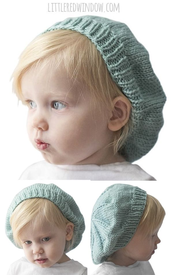 Free Knitting Pattern for Slouchy Baby Hat - Easy adorable baby ...
