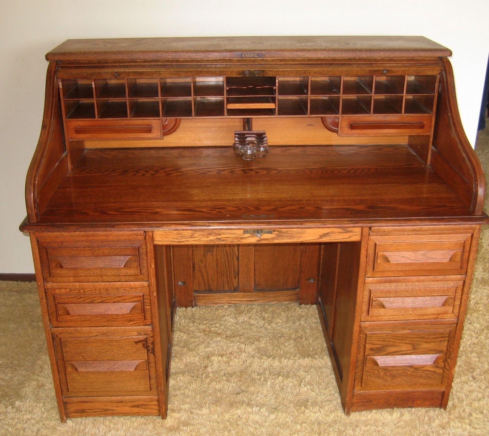 Antique Cutler Roll Top Writing Desk No 362 Circa 1890 S Desk Writing Desk Antique Desk
