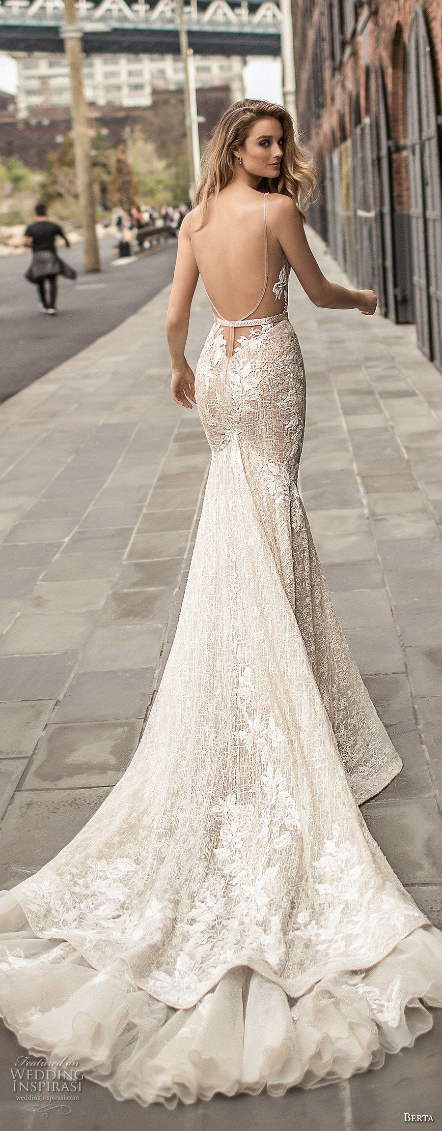 Winter wonderland wedding dress  Berta Bridal Spring  Wedding Dresses u Part   Winter