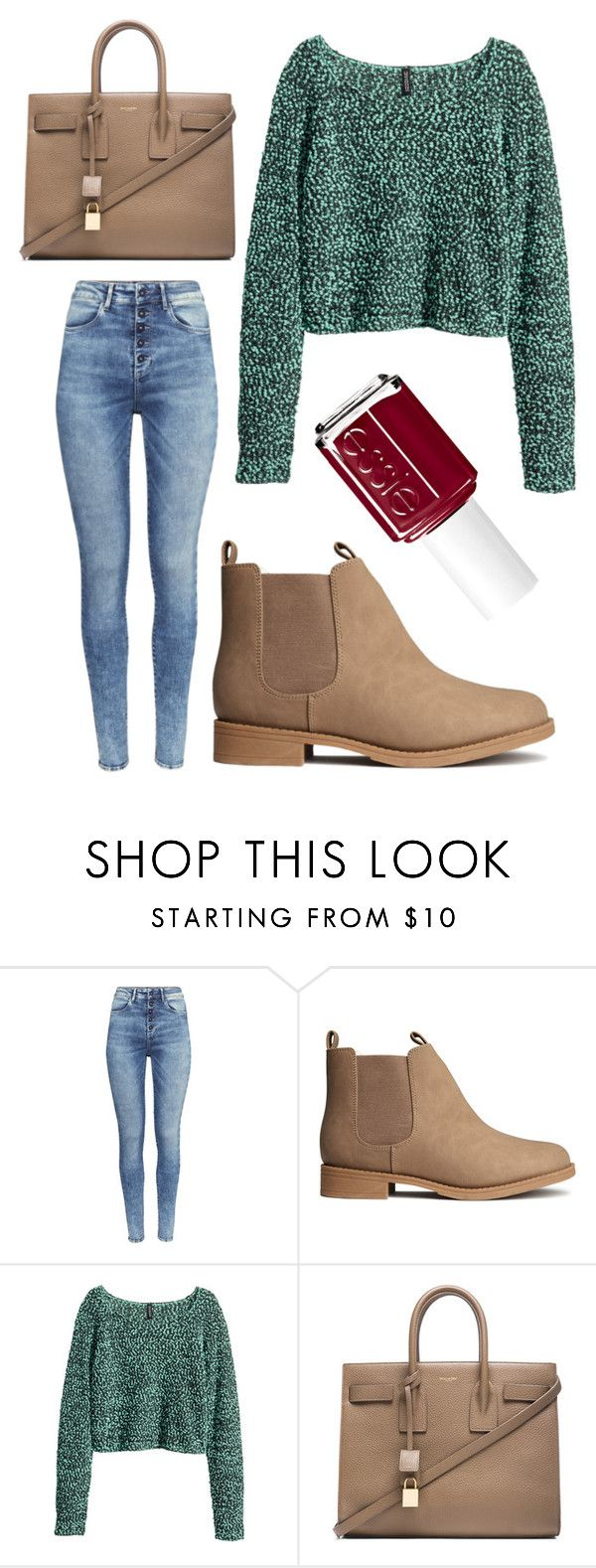 """()"" by moria801 ❤ liked on Polyvore featuring H&M, Yves Saint Laurent and Essie"