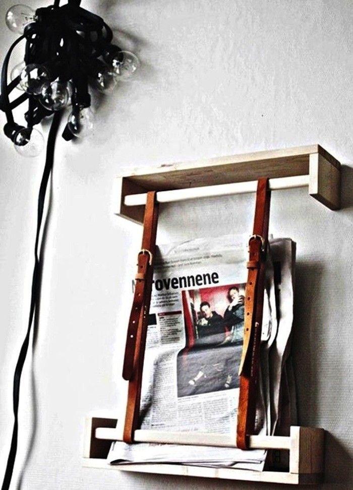 Leather Strap Diy Magazine Wall Holder I Remodelista