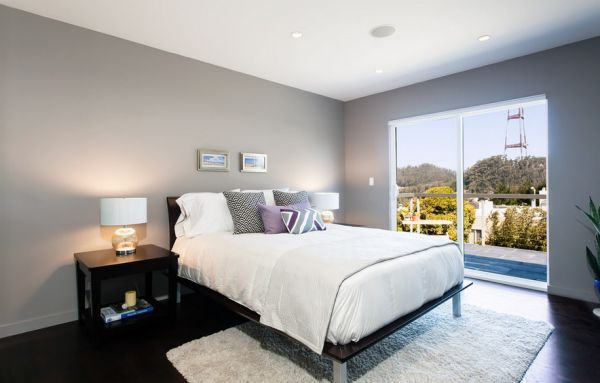 Ample natural ventilation gives the bedroom in light gray an airy appeal |  Fifty Shades of