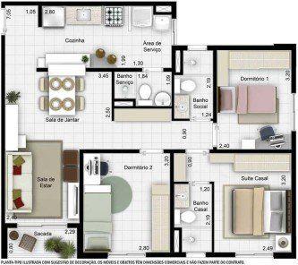 plantas de casas 60m2 com 2 quartos em 2019 plantas de