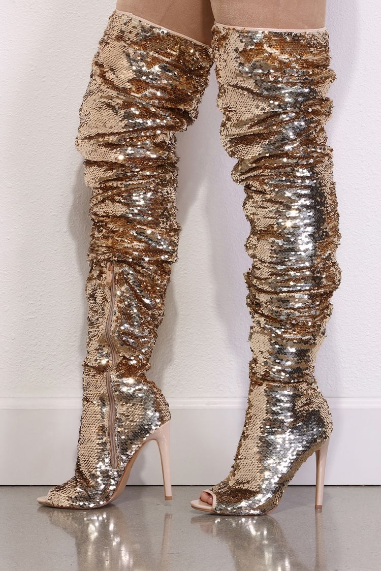 5ffa558adf5 p You ll be the ultimate disco diva in these fabulous sequin boots ...