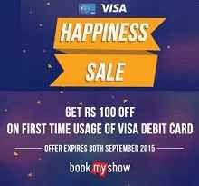 Bookmyshow Visa Movie Ticket 100 Off Offer : Visa Happiness Sale Offer - Best Online Offer