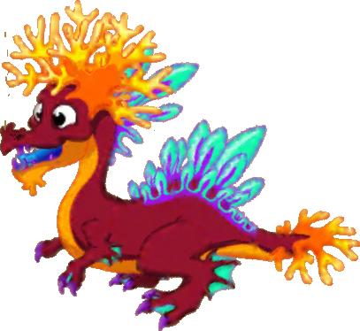 Coral Dragon | Dragonvale | Dragon, New dragon, Beautiful dragon