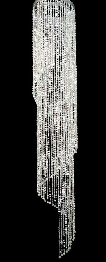 Super Sized Beaded Spiral Chandelier Ft Long Wedding Decor Direct - Long chandelier crystals
