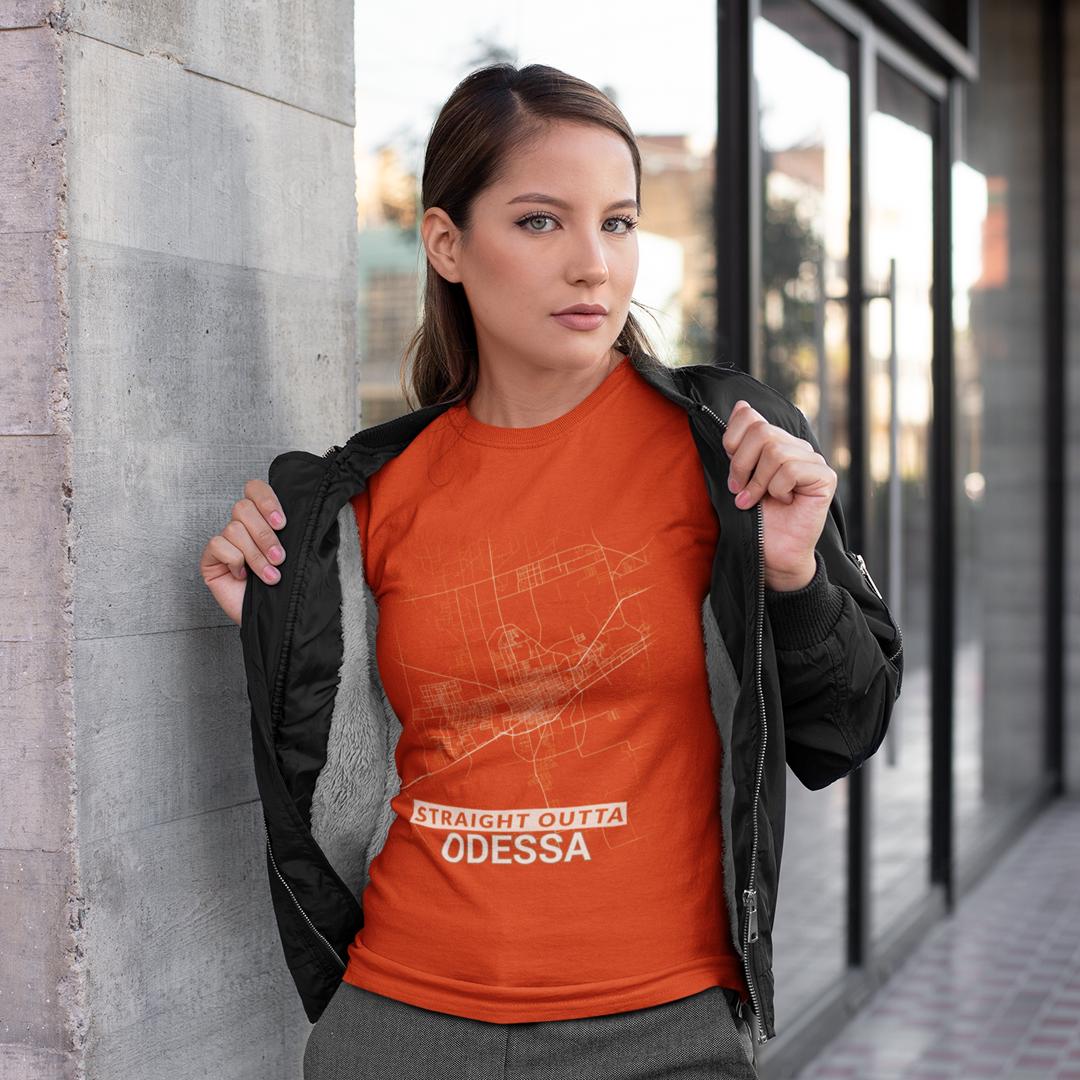 Texas Canada Shirt Map Straight Outta Odessa City Map T Shirt ( US Texas ) | Street wear